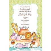 Baby Shower Invitations, Noah's Ark Invitation, Bella Ink