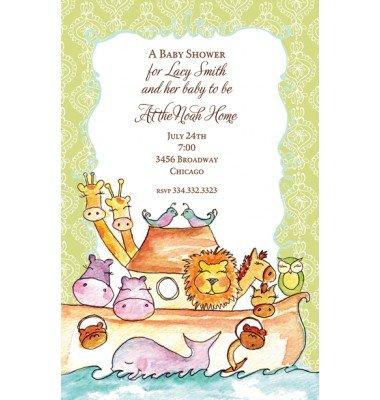 Baby Shower Invitations, Noah's Ark Invitation, Bella Ink