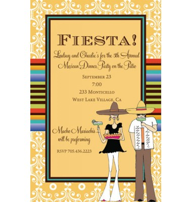 Fiesta Invitations, Margaritaville
