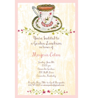 Tea Party Invitation, Bella Ink
