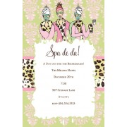 Spa Invitations, Spa De Da, Bella Ink