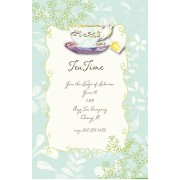 Tea Party Invitations, Blue, Bella Ink