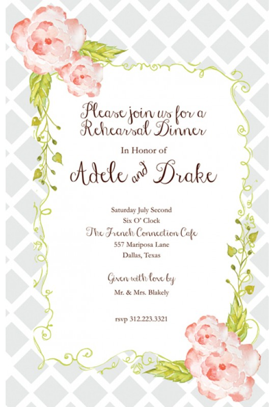 floral invitations moonlit garden bella ink floral invitations