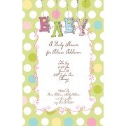 Baby Shower Invitations, Polka Dot Baby, Bella Ink