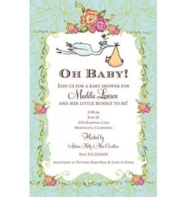 Baby Shower Invitations, Special Delivery, Bella Ink