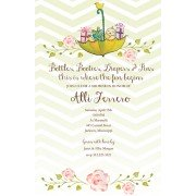 Baby Shower Invitations, Cheveron Umbrella, Bella Ink
