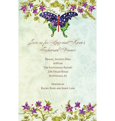 Butterfly Invitations, Bella Butterfly, Bella Ink
