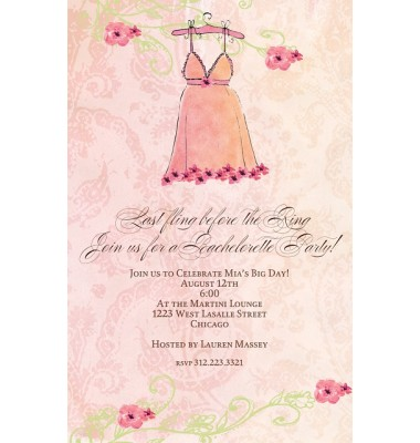 Lingerie Shower Invitations, Nightie, Bella Ink