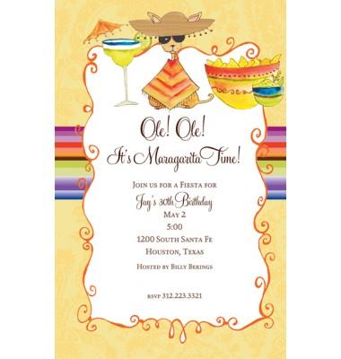 Fiesta Invitations, Chihuahua, Bella Ink