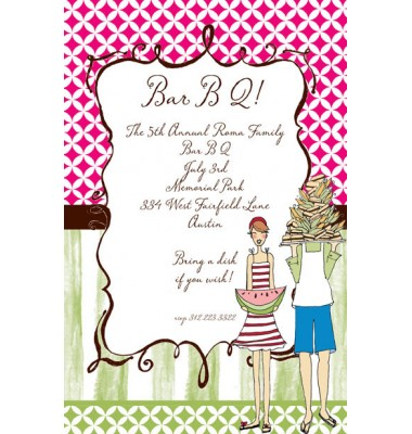 BBQ Invitations, The Webber, Bella Ink