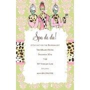 Spa Invitations, Spa De Da, Bella Ink