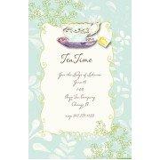 Tea Party Invitations, Blue, Bella Ink