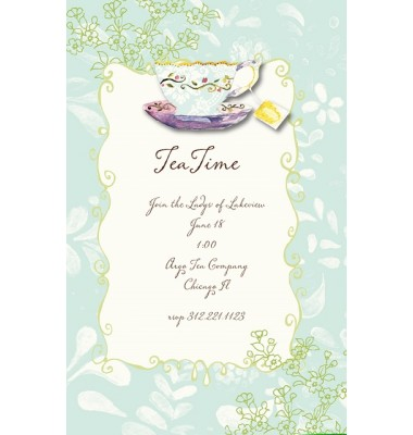 Tea Party Invitations, Bella Tea, Bella Ink
