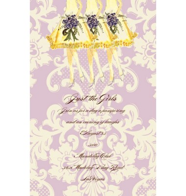 Bridal Shower Invitations, Chiffon Bridesmaids, Bella Ink