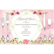 Bridal Shower Luncheon Invitations, Elegantly Plated, Bella Ink