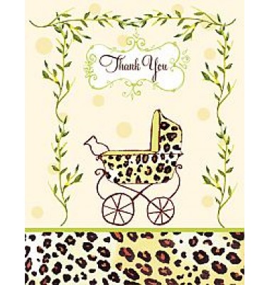 Baby Shower Thank You Cards, Leopard Carriage, Bella Ink