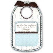 Baby Shower Invitations, Baby Bib Blue, Anna Griffin