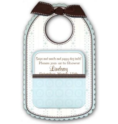 Baby Shower Invitations, Baby Bib Blue, Anna Griffin