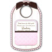 Baby Shower Invitations, Baby Bib Pink, Anna Griffin