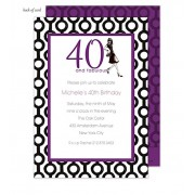 40th Birthday Invitations, 40 and Fabulous, Bonnie Marucs