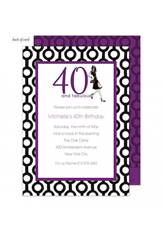 birthday invitations - adult birthday invitations - 40th birthday, Birthday invitations