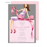 Baby Shower Invitations, Expecting a Big Gift Girl - Brunette