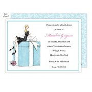 bridal shower invitations bride on box bonnie marcus