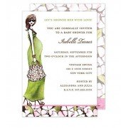 Baby Shower Invitations, Green Momma