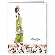 Baby Shower Thank You Cards, Green Momma