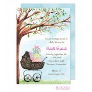 Baby Shower Invitations, Leopard Print Carriage, Bonnie Marcus