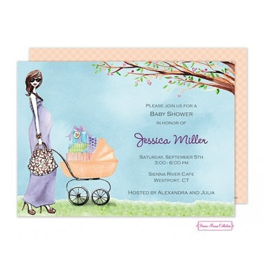 Baby Shower Invitations, Strolling Mom, Bonnie Marcus