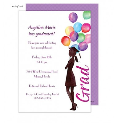Graduation Invitations, Beautiful Balloons Grad, Bonnie Marcus