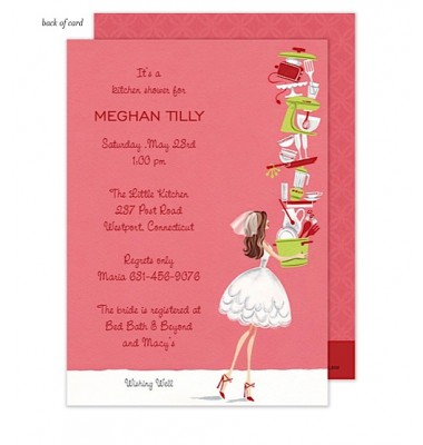 Bridal Shower Invitations, Balancing Bride, Bonnie Marcus