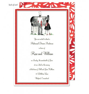 BBQ Invitations, BBQ Couple, Bonnie Marcus