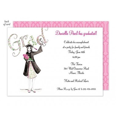 Graduation Invitations, Diploma Girl, Bonnie Marcus