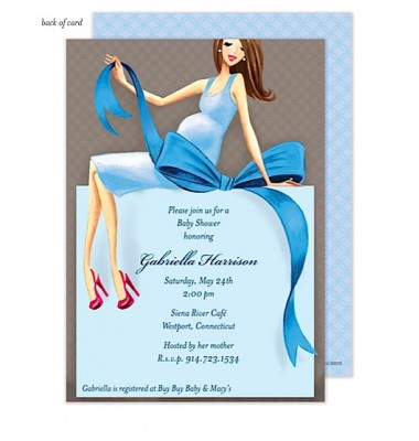 Baby Shower Invitations, Expecting a Big Gift Boy - Brunette