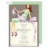 Baby shower Invitations, Expecting a Big Gift Neutral - Brunette