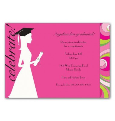 Graduation Invitations, Graduation Silhouette, Bonnie Marcus
