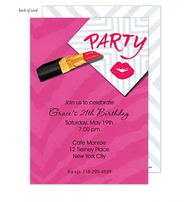 Party Invitations, Kiss and Tell, Bonnie Marcus