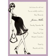 Baby Shower Invitations, Lavender Mom, Bonnie Marcus