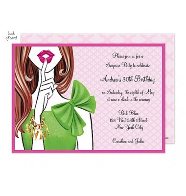 Surprise Party Invitations,  Stylish Surprise