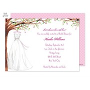 Bridal Shower Invitations, Wonderful Wedding Dress