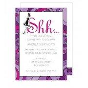 Surprise Party Invitations, Shhh, Bonnie Marcus