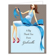 Baby Shower Thank You Cards, Expecting a Big Gift Boy - Brunette