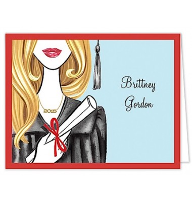 Graduation Thank You Cards, Glamorous Grad - Blonde, Bonnie Marcus