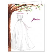 Bridal Shower Thank You Cards, Wonderful Wedding Dress