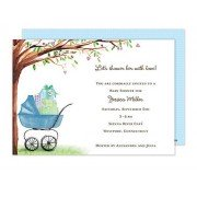 Baby Shower Invitations, Beautiful Carriage Blue, Bonnie Marcus