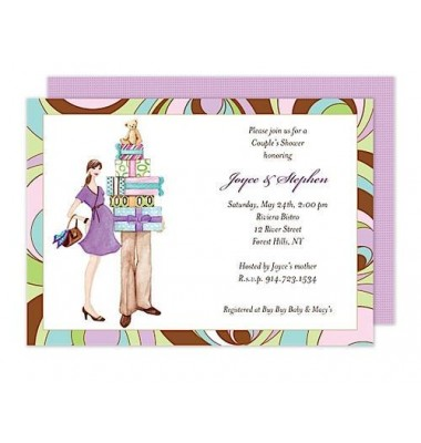 Couples Baby Shower Invitations, Couples Shower, Bonnie Marcus