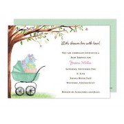 Baby Shower Invitations, Carriage Green, Bonnie Marcus