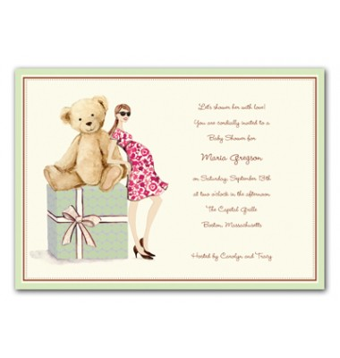 Baby Shower Invitations, Teddy Bear on Box, Bonnie Marcus